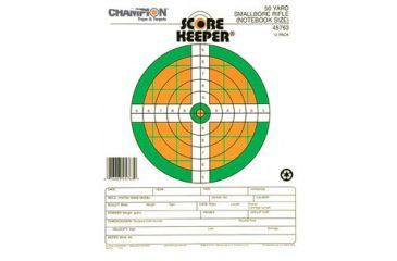 Champion Fluorescent Orange & Green Bull, 50 Yd. Small Bore Notebook, Pack of 12