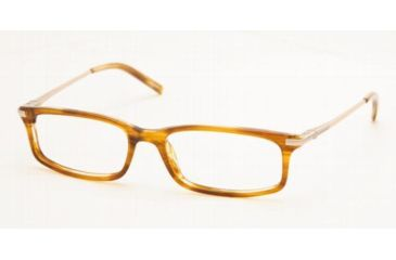 Chaps CP3023-537-5316 Eyeglasses with No Line Progressive Rx Prescription Lenses 53 mm Lens Diameter / Brown Horn Frame