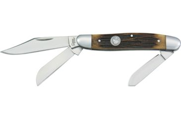 Chief Large Stockman Folding Knife,Clip/Spey/Sheepsfoot Blade, Coffee Brown Jigged Bone Handle CF119CE