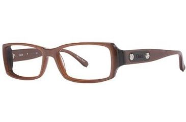 Chloe CL1164 Single Vision Prescription Eyeglasses - Frame Brown, Size 53/14mm CL116402