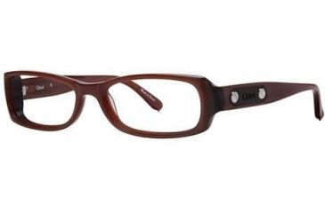 Chloe CL1165 Single Vision Prescription Eyeglasses - Frame Brown, Size 53/15mm CL116502