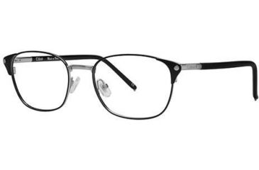 Chloe CL1178 Single Vision Prescription Eyeglasses - Frame Black/silver, Size 52/18mm CL117801
