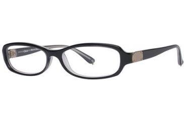 Chloe CL1195 Single Vision Prescription Eyeglasses - Frame Black/Grey, Size 52/14mm CL119501