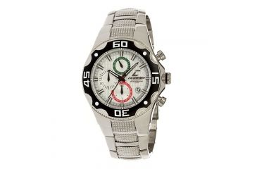 Chronotech Active 7091  Watch - Chrome Stainless Steel Band, White Face Ct.7091am/16m