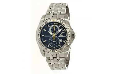 Chronotech Active 7109  Watch - Stainless Steel Band, Blue Face Ct.7109m/03m