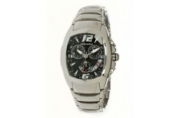 Chronotech Stone Cut  Watch - Silver Band, Black Face Ct.7138m/02m