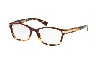 c3eaa6fdaa Coach HC6065 Eyeglass Frames 5437-49 - Burgundy Tortoise Tortoise Frame