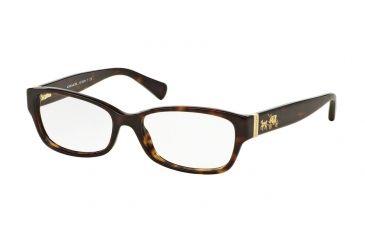 27ea1726cc Coach HC6078 Eyeglass Frames 5120-52 - Dark Tortoise Frame