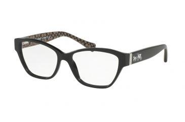 05e6b7fe896 Coach HC6088F Eyeglass Frames 5261-54 - Black Black Military Sig C Frame