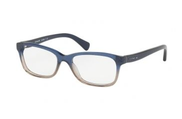 383849b413 Coach HC6089 Progressive Prescription Eyeglasses 5474-51 - Denim Taupe  Glitter Gradient Frame