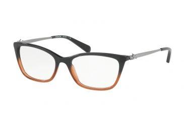 0d28a70e8a Coach HC6107 Eyeglass Frames 5475-52 - Black Amber Glitter Gradient Frame