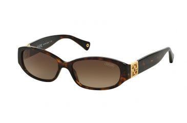 823ed92d15 Coach HOPE HC8012 Single Vision Prescription Sunglasses HC8012-500113-53 -  Lens Diameter 53