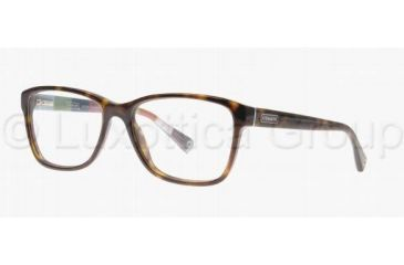 Coach JULAYNE HC6013 Progressive Prescription Eyeglasses 5001-5216 - Dark Tortoise