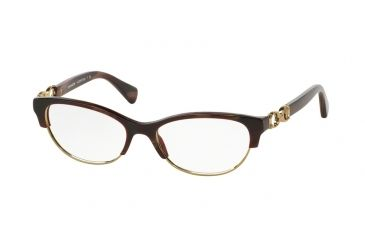 3ac8472a5b Coach KITTY HC5063 Progressive Prescription Eyeglasses 5271-51 - Burgundy  Horn Gold Frame