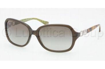 d86e73d085a46 Coach L007 Beatrice HC8019 Sunglasses 50368E-5816 - Dark Olive Green  Gradient