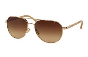288ef00fa Coach L137 HC7053 Sunglasses 922713-58 - Light Gold/ Crystal Lt Brown Frame,