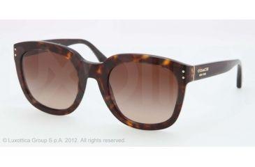 Coach L525 HC8047F Progressive Prescription Sunglasses HC8047F-500113-51 - Lens Diameter 51 mm, Frame Color Tortoise