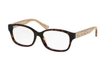 17a975df6cb9 Coach TIA HC6049 Eyeglass Frames 5152-54 - Dark Tortoise Crystal Brown Frame