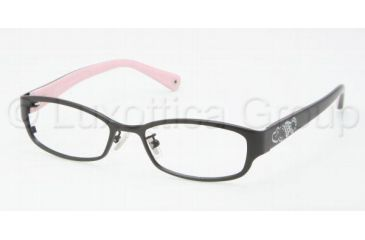 Coach WILLOW HC5007 Single Vision Prescription Eyeglasses 9044-5016 - Satin Black
