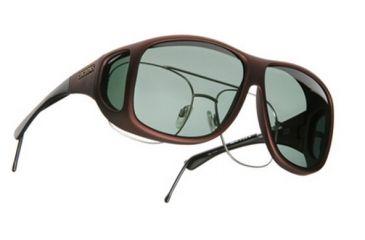 Cocoons Aviator Over-the-Glasses Sunglasses, XL Burgundy Frame, Gray Lenses C209G
