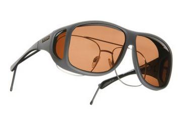 Cocoons Aviator OveRx Sunglasses, XL Slate Frame, Copper Lenses C208C