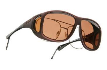 Cocoons Aviator Over-the-Glasses Sunglasses, XL Burgundy Frame, Copper Lenses C209C