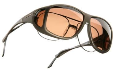 Cocoons Aviator Over-Prescription Sunglasses, XL Sand Frame, Copper Lenses C205C