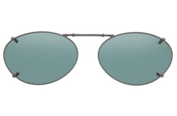 Cocoons Oval 3 Clipons Sunglasses, Size 50 Gunmetal Frame, Gray Lenses L678G