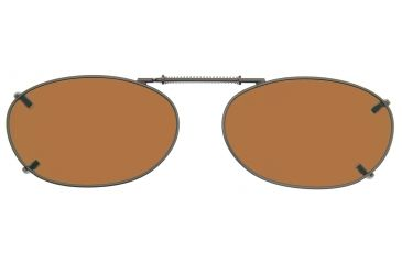 Cocoons Oval 4 Clip-On Sunglasses, Size 44 Gunmetal Frame, Amber Lenses L6108A