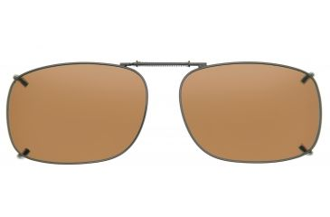 Cocoons Square 2 Clip-On Sunglasses, Size 53 Gunmetal Frame, Amber Lenses L308A