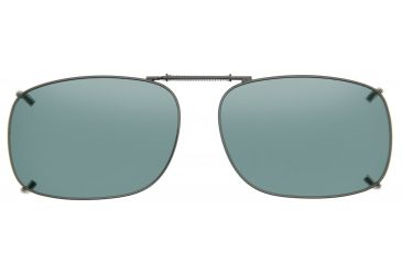 Cocoons Square 2 Clip-On Sunglasses, Size 53 Gunmetal Frame, Gray Lenses L308G