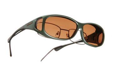 Cocoons Mini Slim Over-the-Glasses Sunglasses, MS Ivy Frame, Copper Lenses C411C