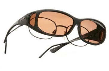 Cocoons Mini Slim Over-Glasses Sunglasses, MS Black Frame, Copper Lenses C412C