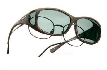Cocoons Mini Slim Over-Glasses Sunglasses, MS Sand Frame, Gray Lenses C415G