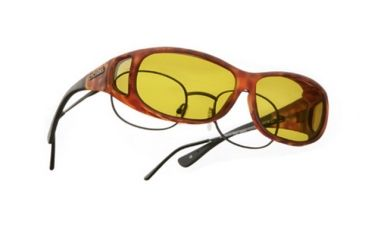 Cocoons Mini Slim Over-Rx  Sunglasses, MS Tort Frame, Yellow Lenses C417Y