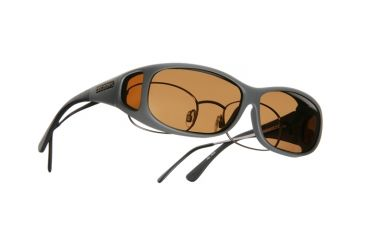 Cocoons Mini Slim Over-RX Sunglasses, MS Slate Frame, Amber Lenses C418A
