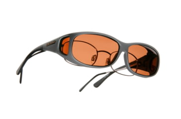 Cocoons Mini Slim Over-Rx Sunglasses, MS Slate Frame, Copper Lenses C418C