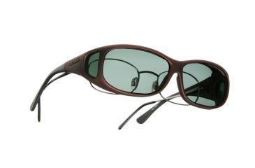 Cocoons Mini Slim Over-Glasses Sunglasses, MS Burgundy Frame, Gray Lenses C419G