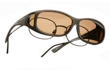 Cocoons Mini Slim Over-Glasses Sunglasses, MS Sand Frame, Amber Lenses C415A