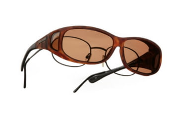 Cocoons Mini Slim Over-Rx  Sunglasses, MS Tort Frame, Copper Lenses C417C