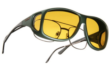 Cocoons Aviator Over-Rx Sunglasses, XL Ivy Frame, Yellow Lenses C201Y