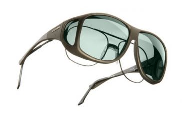 Cocoons Aviator Over-Prescription Sunglasses, XL Sand Frame, Gray Lenses C205G