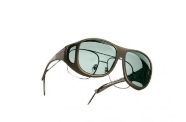 Cocoons Pilot Over-Glasses Sunglasses, L Sand Frame, Gray Lenses C305G