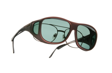 Cocoons Pilot Over-Glasses Sunglasses, L Burgundy Frame, Gray Lenses C309G