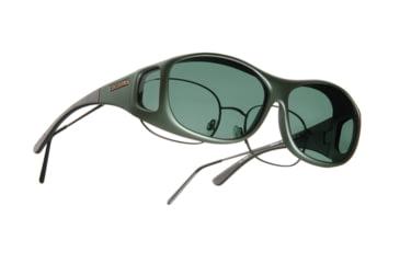 Cocoons Slim Line Over-Glasses Sunglasses, M Ivy Frame, Gray Lenses C401G