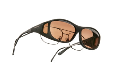 Cocoons SlimLine Over-Glasses Sunglasses, M Black Frame, Copper Lenses C402C
