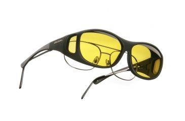 Cocoons SlimLine OveRx Sunglasses, M Black Frame, Yellow Lenses C402Y