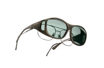 Cocoons SlimLine OveRx Sunglasses, M Sand Frame, Gray Lenses C405G