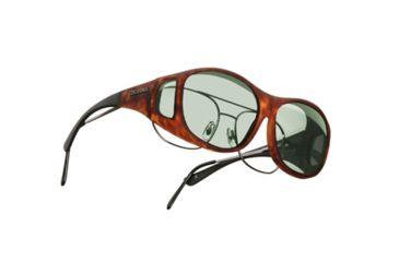 Cocoons Slim Line OveRx Sunglasses, M Tort Frame, Gray Lenses C407G