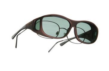 Cocoons Slim Line OveRx Sunglasses, M Burgundy Frame, Gray Lenses C409G
